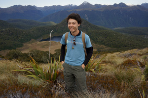 PhD student Jay Iwasaki is studying the foraging ecology of New Zealand's native bees.