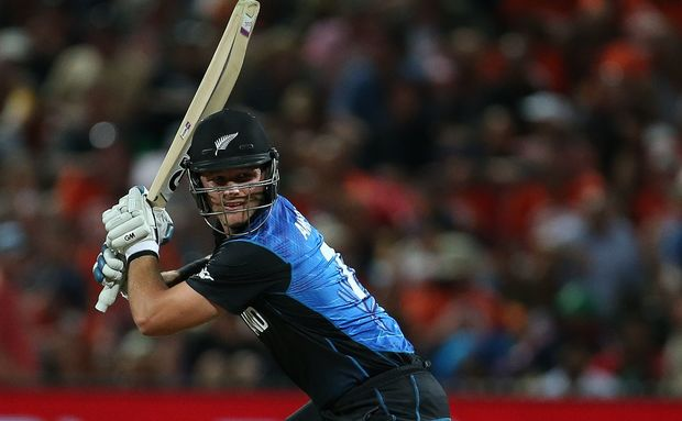 Black Caps' and Mumbai Indians Corey Anderson batting during the Cricket World Cup.