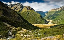 The Routeburn Valley.