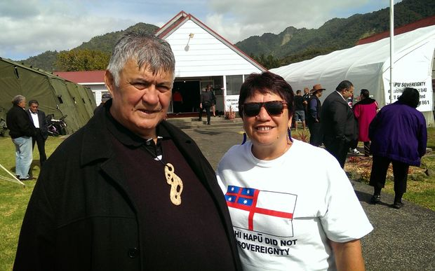 Rudy and Kay Taylor at Tuhirangi Marae.