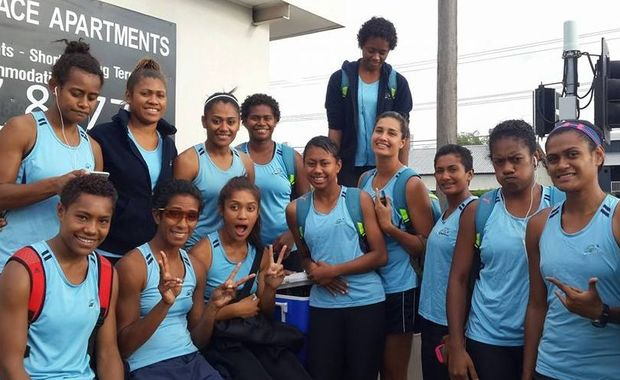 The Fiji Pearls Netball team in Australia earlier this year.
