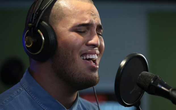 Stan Walker performing live at RNZ