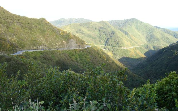 State Highway 2 (Rimutaka Hill Road) near the top of the range