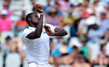 Jason Holder on Test duty with the ball