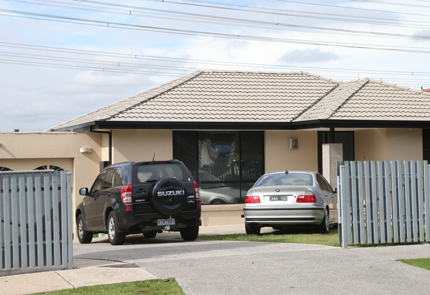 A house in Hallam, Melbourne, where police made one of several arrests.
