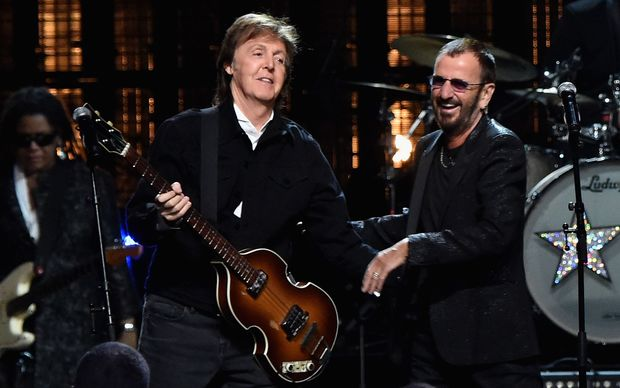 One time band mate Sir Paul McCartney was the one to induct Ringo Starr into the Rock and Roll Hall of Fame.