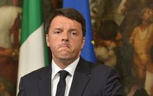 Italian Prime Minister Matteo Renzi gives a press conference focused on the shipwreck of migrants last night off the Libyan coast.