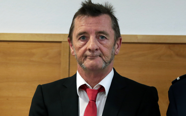 Phil Rudd at Tauranga District Court om 21 April 2015.