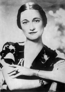 Portrait dated 1930's of American-born Wallis Simpson, who became Duchess of Windsor 03 June 1937, by marrying Edward of England, Duke of Windsor, formerly King Edward VIII of England.