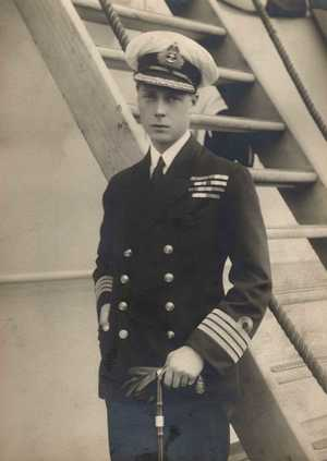 EDWARD VIII, 1894-1972, King of Great Britain, later Duke of Windsor, as Prince of Wales in naval uniform; abdicated in 1936 in order to marry the divorcée Mrs Wallis Simpson. Photograph c.1913