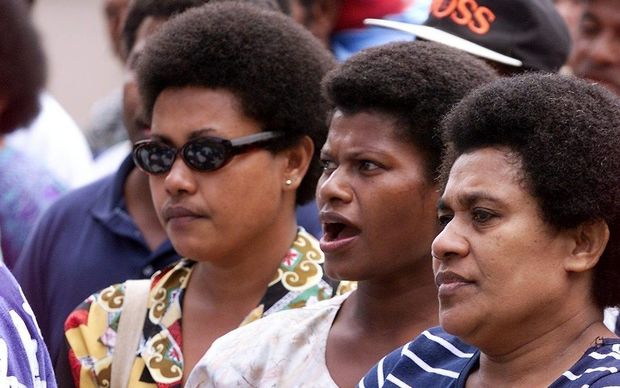 Fiji women in the streets of Suva.