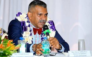 Fiji's Minister for Industry, Trade and Tourism, Faiyaz Koya.