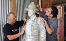 Statue of Warrant Officer Class II. Sergeant Major, Herewini Whakarua.