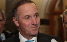 090414. Photo Diego Opatowski / RNZ.PM John Key talks with media at Parliament.