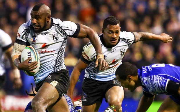 Fiji take on Samoa at the 2013 Rugby League World Cup.
