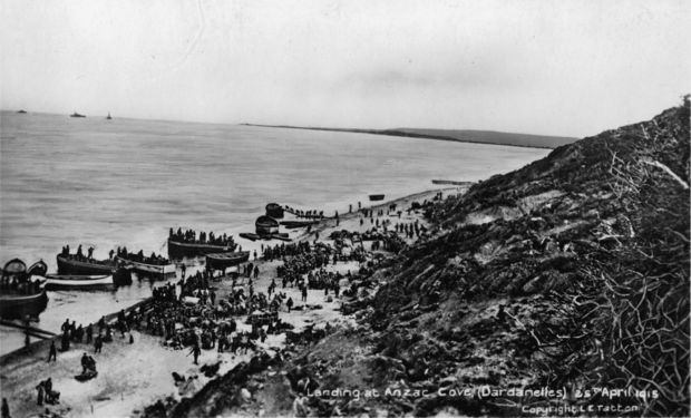 Landing at Anzac Cove, Gallipoli