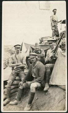 Group of New Zealand soldiers, Gallipoli Peninsula, Turkey