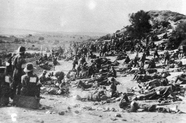 Wounded soldiers, Gallipoli, Turkey