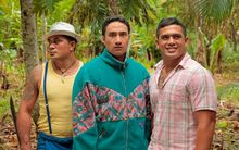 The movie, 'Three Wise Cousins', a comedy about travelling to Samoa to learn what it takes to be 'a real island guy' starring Neil Amituanai, Vito Vito & Fesuiai Viliamu.