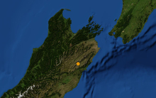 An earthquake has been felt, centred north west of Kaikoura, 5.9 magnitude according to Geonet.