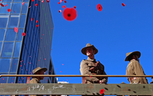 Wellington's CBD was a hive of activity this afternoon after thousands of people lined its streets for today's Anzac parade.