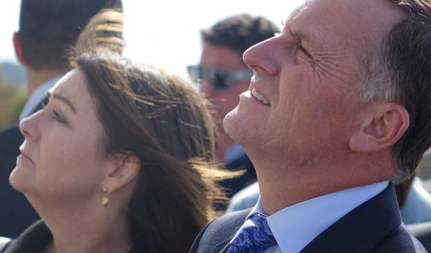 John Key and his wife Bronagh at Lone Pine in Gallipoli .