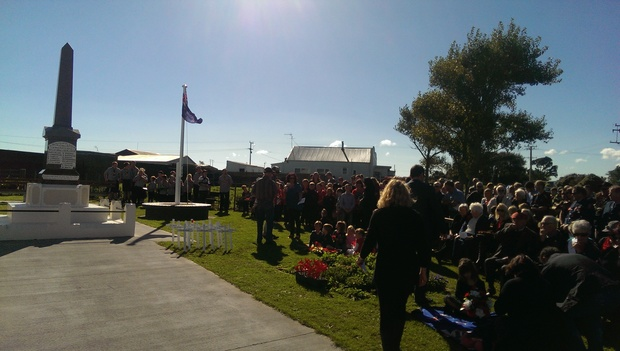 More than 200 people have gathered at Alton in South Taranaki for Anzac comemorations.