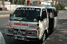An ambulance in Karachi (file photo)