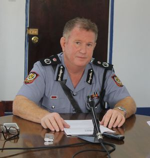 Tonga police commissioner, Stephen Caldwell