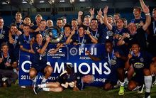 Auckland City celebrate winning the 2015 Oceania Champions League title.
