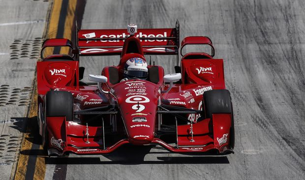 Scott Dixon in his Target Chip Ganassi Racing Chevrolet