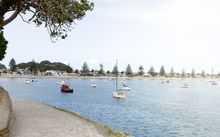 Boats moored at the bay in Tauranga.