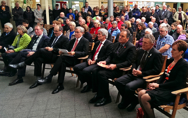 A memorial service for the victims of the  Cave Creek tragedy was held in Greymouth.