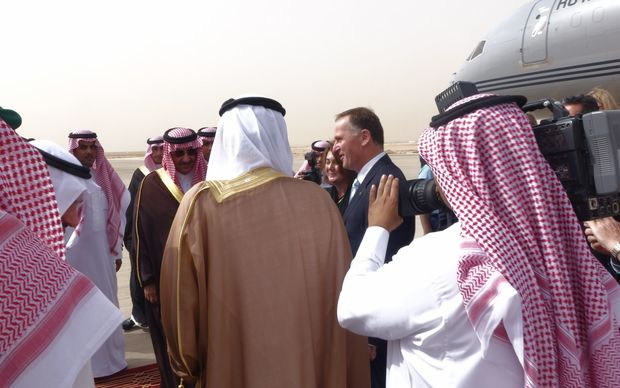 John Key in Saudi Arabia