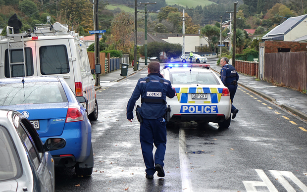 Police in North Dunedin are looking for a man after an incident earlier today.