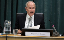 Auckland Council Meeting. Mayor Len Brown