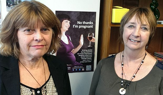 Neuro pyschologist, Valerie McGinn and  Alcohol Healthwatch's Christine Rogan