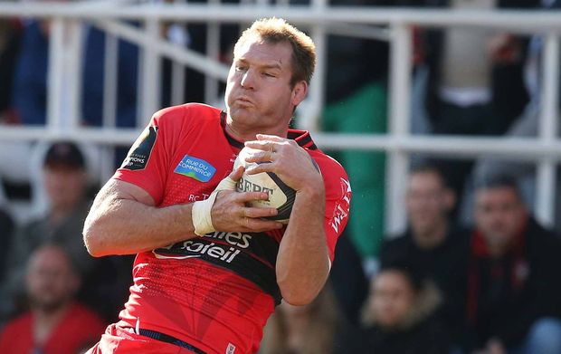 The former All Black Ali Williams playing for European Champions Toulon.