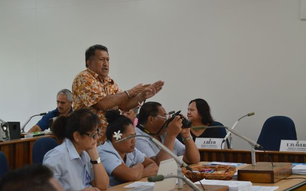 The clerk of the Cook Islands parliament, John Tangi