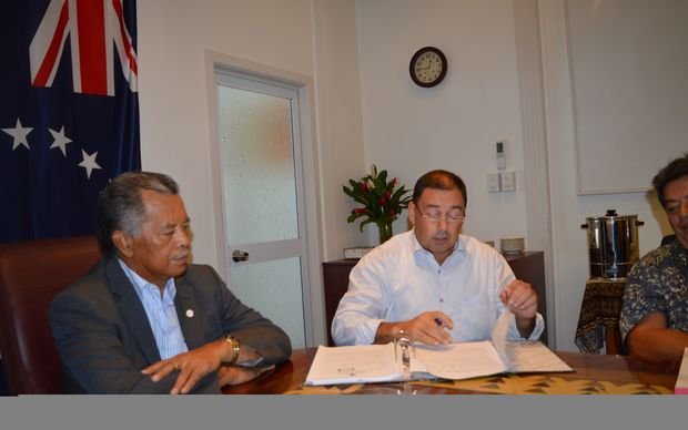 Cook Islands Prime Minister Henry Puna and Finance Minister Mark Brown