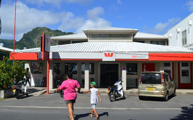 A Westpac branch in Rarotonga, Cook Islands
