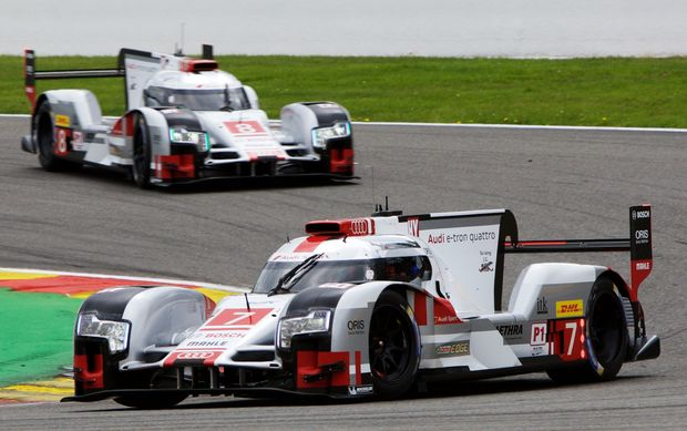 The winning Audi R18 e-tron quattro