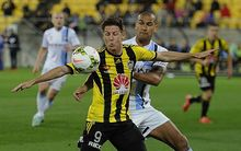 Phoenix striker Nathan Burns was tightly marked throughout the elimination final against Melbourne City.