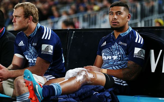 All Black Charles Piutau (right) will miss the remainder of the Super Rugby season while teamate Luke Braid is also in doubt.