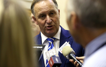 John Key during caucas run 5/5/15