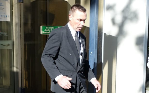 Craig O'Neill leaving the Christchurch District Court today.