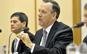 Australian Bankers Association chief executive Steven Munchenberg at a senate inquiry in 2012.