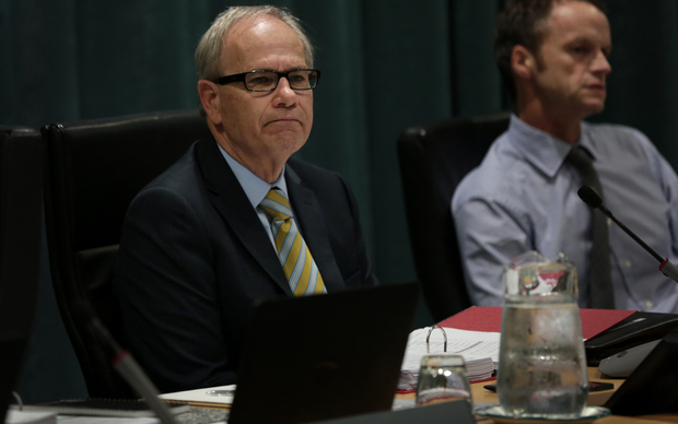 Auckland City Council meeting. Mayor Len Brown