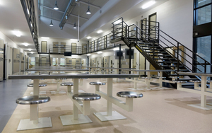 A cell block at Auckland South Corrections Facility.