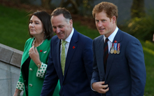 Prince harry; John Key and JK wife Brongh (SPELLING)